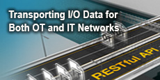 Transporting I/O Data for Both OT and IT Networks