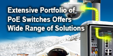 Extensive Portfolio of PoE Switches Offers Wide Range of Solutions