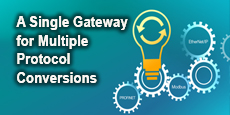 A Single Gateway for Multiple Protocol Conversions